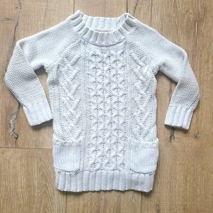 (2/$15) Joe Fresh Cable Knit White Sweater